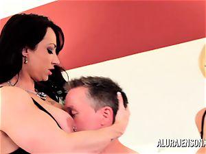 Alura Jenson milf three way poke with Brandi May