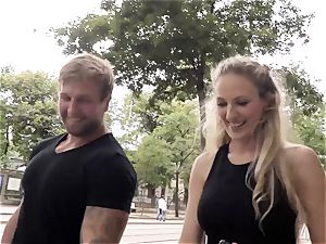 cocksluts ABROAD - sizzling hookup with German blondie tourist
