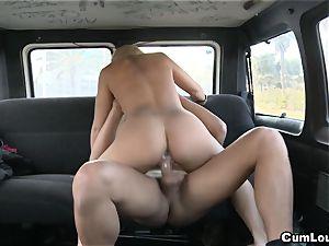 euro bi-atch Zorah milky boinking inside our Car