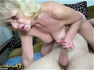 aged grannie got undressed and plowed hard-core way