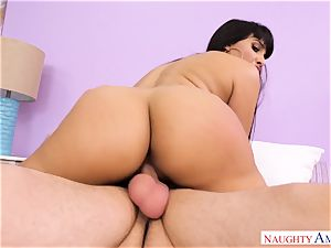 Mercedes Carrera blowing on a hefty beef whistle