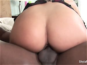 big-titted Shyla Stylez luvs taking phat black trouser snake