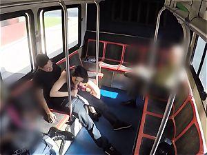 Aria Alexander public bus fellate and tear up