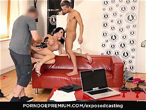 unveiled casting - porno star Jasmine Jae MMF threesome