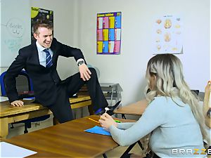 handsome schoolgirl Carly Rae gets banged by a big dicked instructor