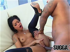 dark-hued Cumcraver flesh Diamond adores bbc