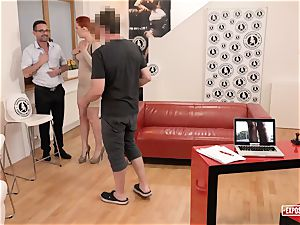 uncovered audition - red-haired Eva Berger dumping audition