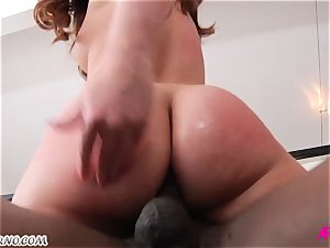 black plowed Maddy's ass after romantic encounter
