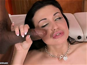 cum thirsting Aletta Ocean dreamed a load on her throat after a nice ass-fuck