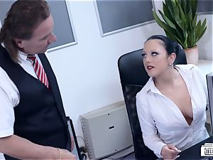 butts BUERO - wondrous German mummy smashes boss at the office