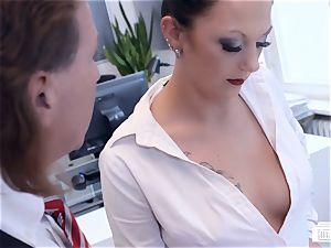 butts BUERO - wondrous German mummy smashes boss at the office