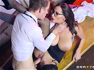 Lusty college girl Ella Hughes and her big-titted professor sensual Jane need your yam-sized stiff weenie