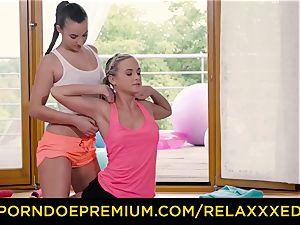RELAXXXED lezzy Amirah Adara nailed on yoga class