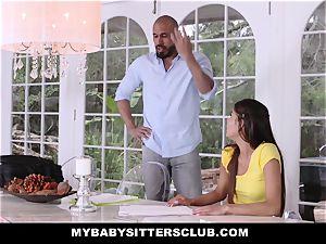 MyBabySittersClub - adorable nubile baby sitter bangs lecturer
