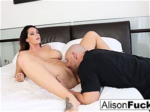 curvaceous Alison takes some supreme dick in her bedroom