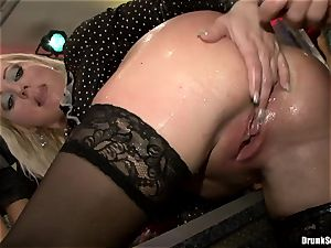 Bibi Fox and lusty ladies laid with hunk's 3rd leg