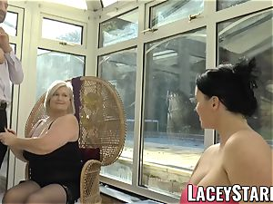 LACEYSTARR - Pascal pummeling Lacey Starr and her pal