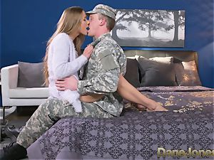 Dane Jones firm deep-throating and pounding sloppy Army wife