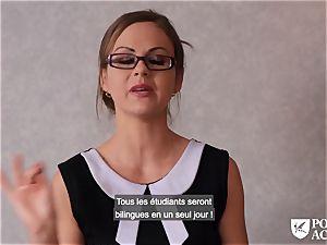 porno ACADEMIE - british Tina Kay scorching ass-fuck in three-way