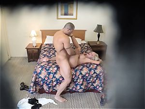 insatiable Nina Elle romps her guy at the motel