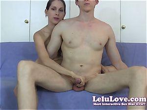 Reaching around to stroke his boner just like he would
