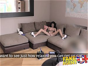 FakeAgentUK petite UK honey tries very first time ass-fuck