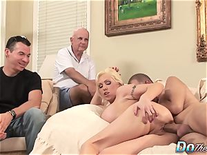 ash-blonde cougar wifey take large pipe