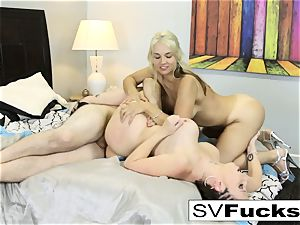 molten 3-way of boobies, donks, and a ginormous fuck-stick