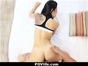 spectacular Latina Gina Valentina point of view plowing