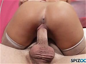 Spizoo- Abigail Mac get laid down by a proper ample man rod