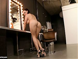 immense boobed Aletta Ocean likes dipping her gorgeous frigs in her simmering slot