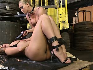Andy brown and Kathia Nobili ass dildoing rock-hard
