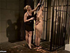 Kathia Nobili slap a splendid babe in the rump