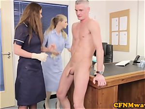 female dom Cayenne Klien makes patient jism