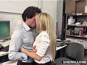 SheWillCheat - busty milf chief tears up new worker