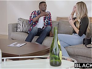 Samantha Saint's cooter gets destroyed by a enormous ebony monster wood