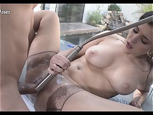 manhood tonguing Leah Gotti showcases off her wet minge