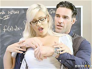 nasty college girl Kylie Page penetrates her schoolteacher