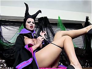 Maleficent showcases her fat chubby udders