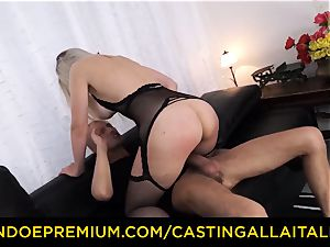 casting ALLA ITALIANA - buxom Italian light-haired butt porked