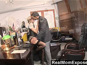RealMomExposed Caught with finger in labia