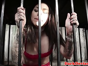 tatted oral slave Karma cumswallows