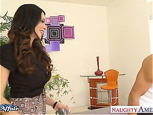 superb looking Ariella Ferrera penetrate her neighbor