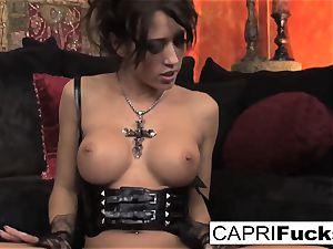 Capri flashes off her pretty feet