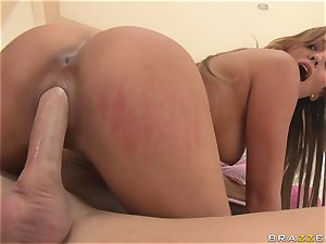 fat hooters latin college girl riding on a long fuck-stick