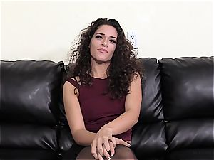 dark haired fledgling does her first-ever ever anal casting