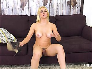 Sarah Vandella porks on cam and playthings her beaver to orgasm