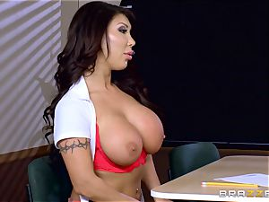 buxomy honey Angelica Taylor smashed by her teacher