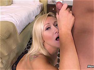 fresh ash-blonde cougar gets buttfuck pov