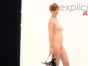 Gingers first-ever striptease with fuck stick activity